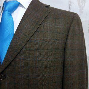 Hart Schaffner Marx Brown Plaid Blazer Sport Coat